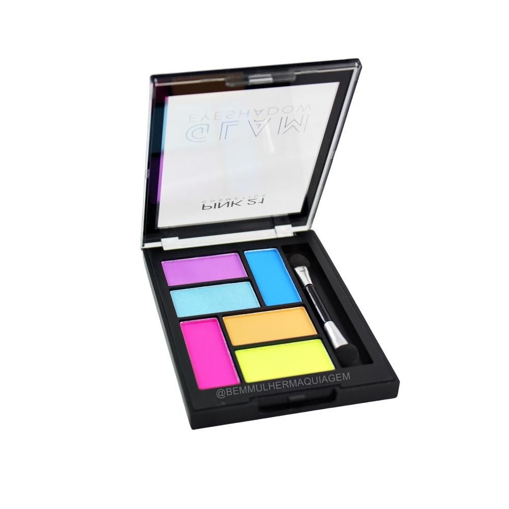 Paleta de Sombras Glam Eyeshadow - Pink 21 Cor 3 (CS2995)