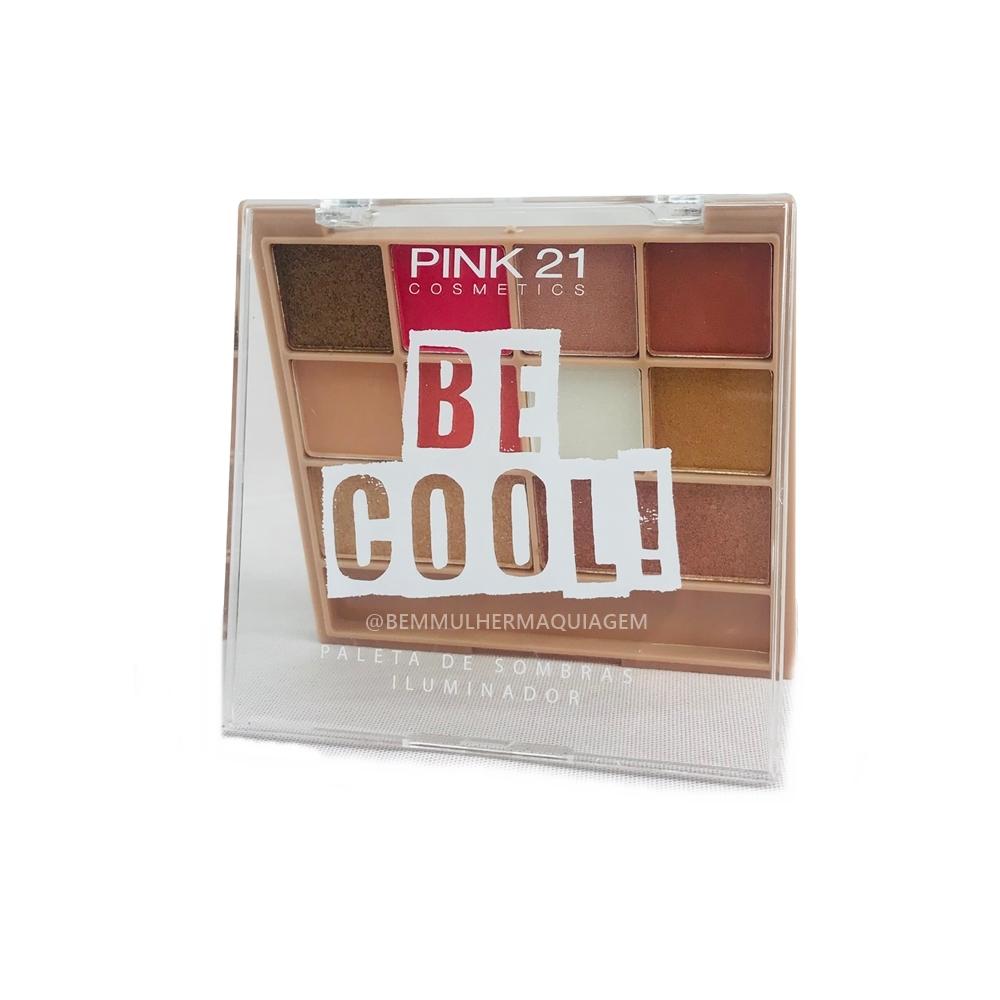 Paleta de Sombras Iluminador Be Cool Cor A - Pink21 (CS2307A)