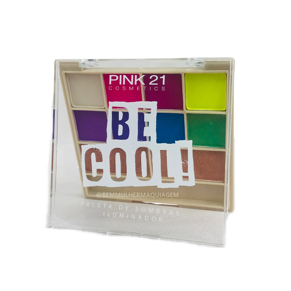 Paleta de Sombras Iluminador Be Cool Cor C - Pink21 (CS2307C)
