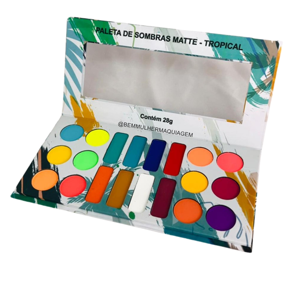 Paleta de Sombras Matte Tropical - Ludurana Make up (B00051)