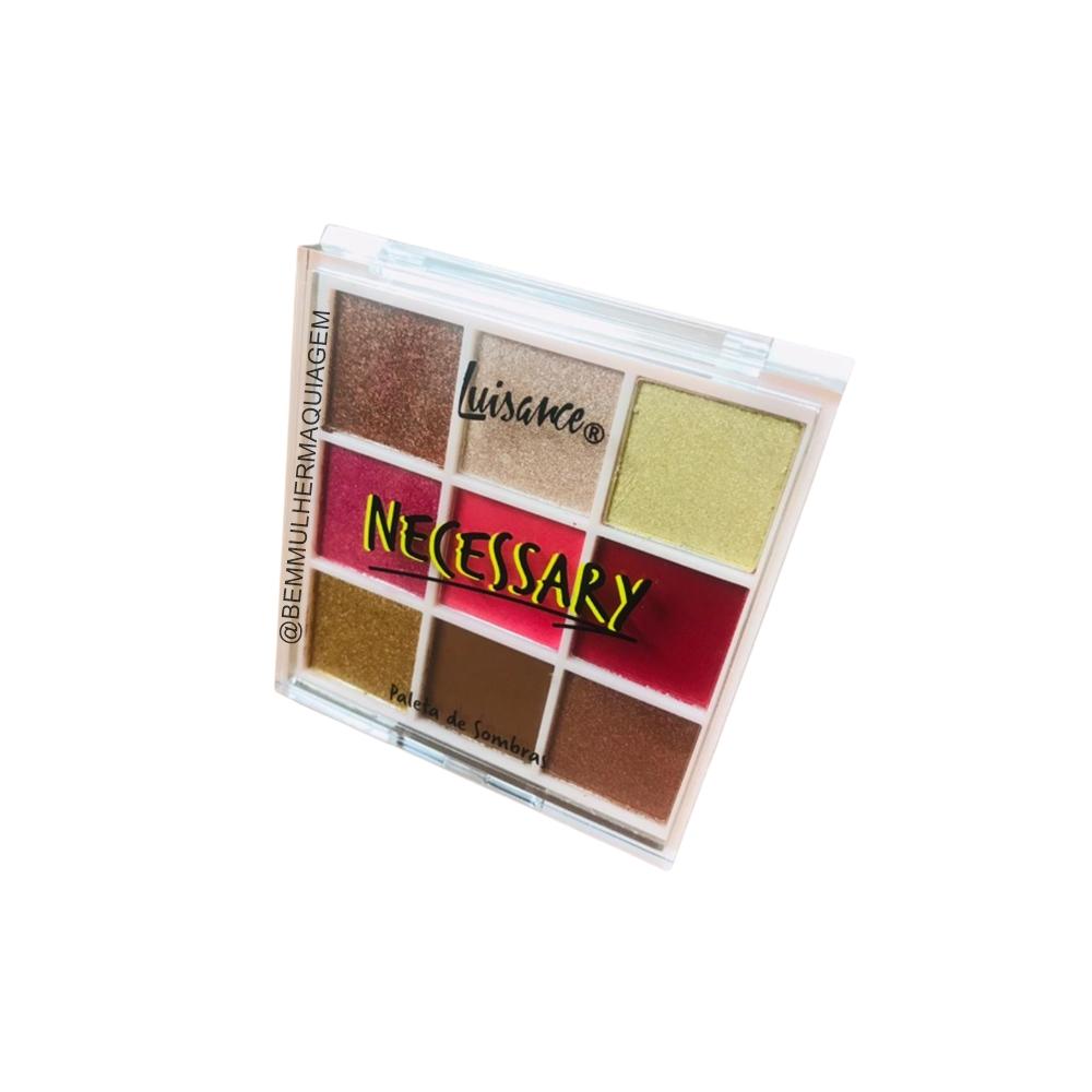 Paleta de Sombras Necessary 9 Cores Cor A - Luisance (L3168A)
