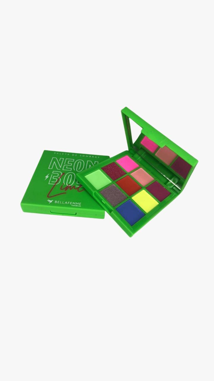 Paleta de Sombras Neon Bolt Lime Verde - Bella Femme (BF10097V)