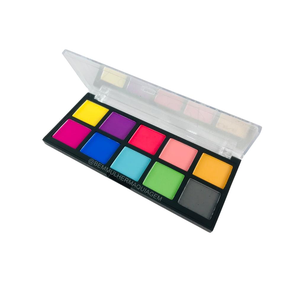 Paleta de Sombras Neon Bright Eyeshadow ? Uni Makeup (UNSO118DS)