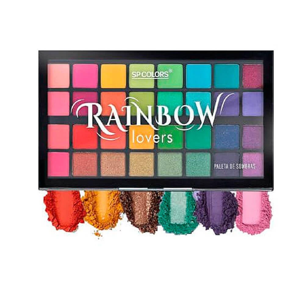 Paleta de Sombras Rainbow 32 cores - Sp Colors (SP186)