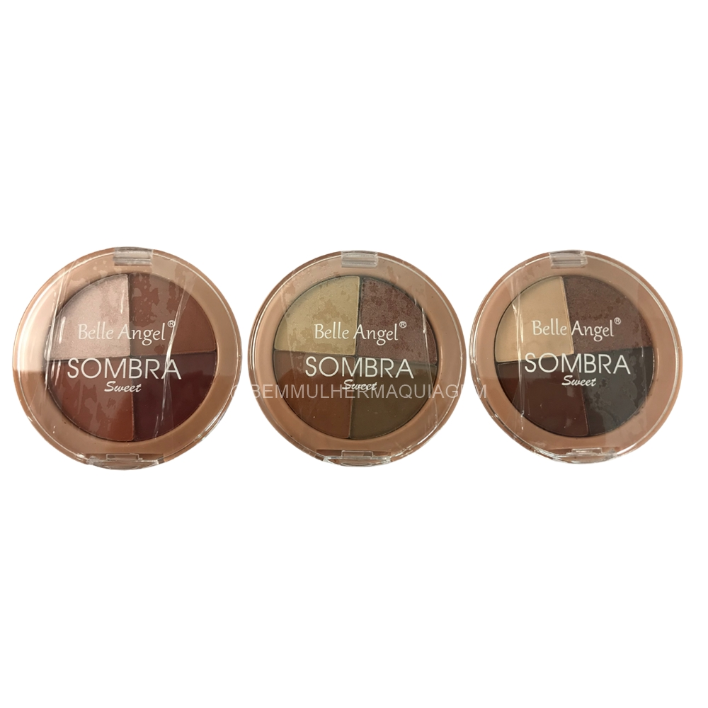 Paleta de Sombras  Sweet 4 Cores - Belle Angel - Box com 24Un. (B091)