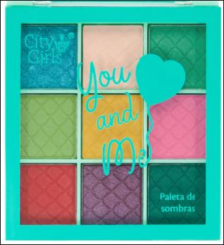 Paleta de Sombras You And Me - City Girls Cor A (CG240A)
