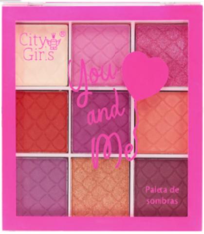 Paleta de Sombras You And Me - City Girls Cor B (CG240B)