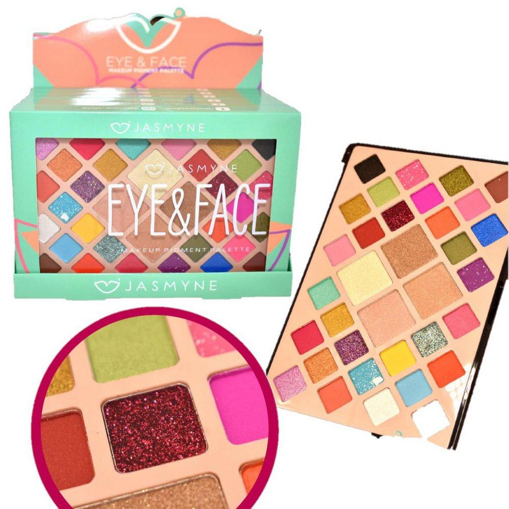 Paleta Eye e Face Makeup Pigment Pallete - Jasmyne (JS0708)