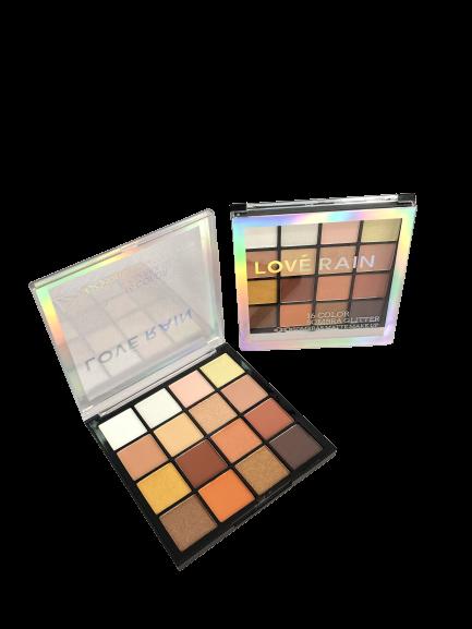 Paleta Sombra Glitter 16 Color - Love Rain Cor 1 (ES90605-1)