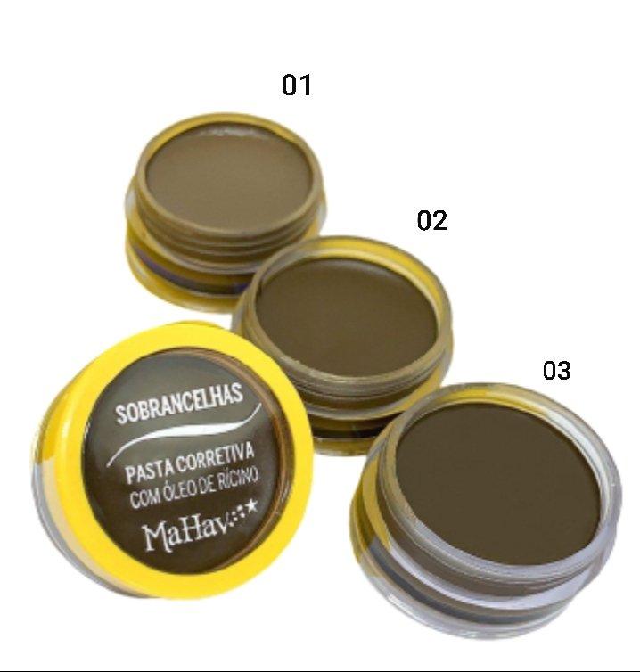 Pasta Corretiva para Sobrancelha - Mahav - Box com 36Un. (CSMV)