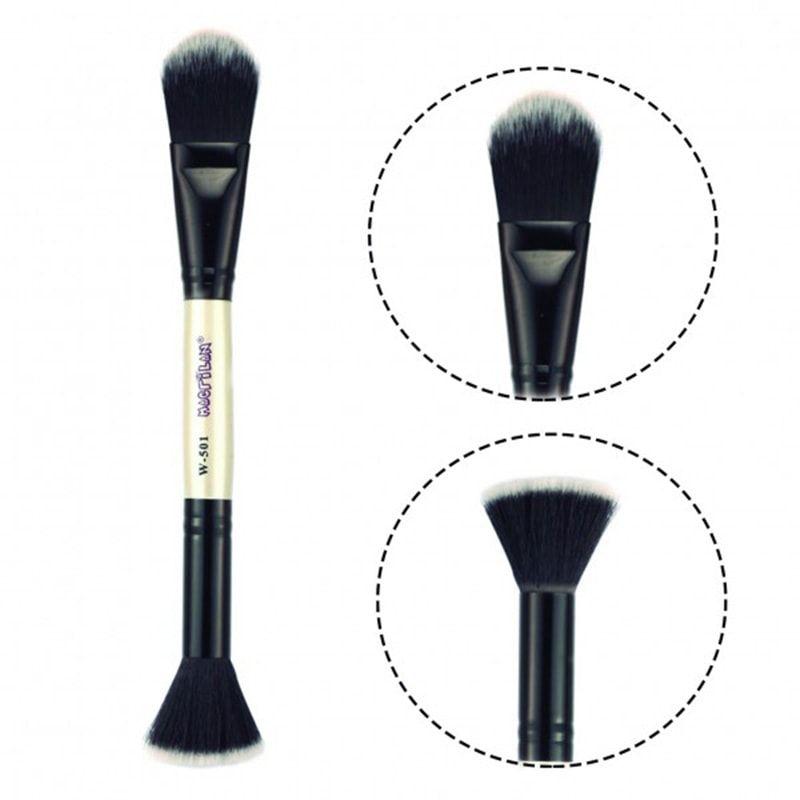Pincel Duplo para Maquiagem - Macrilan (W501)