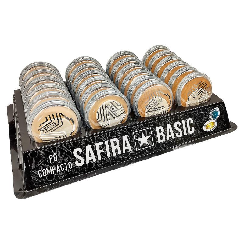 Pó Compacto Basic - Safira ? Box com 24un. (BS3POCOM24CL)