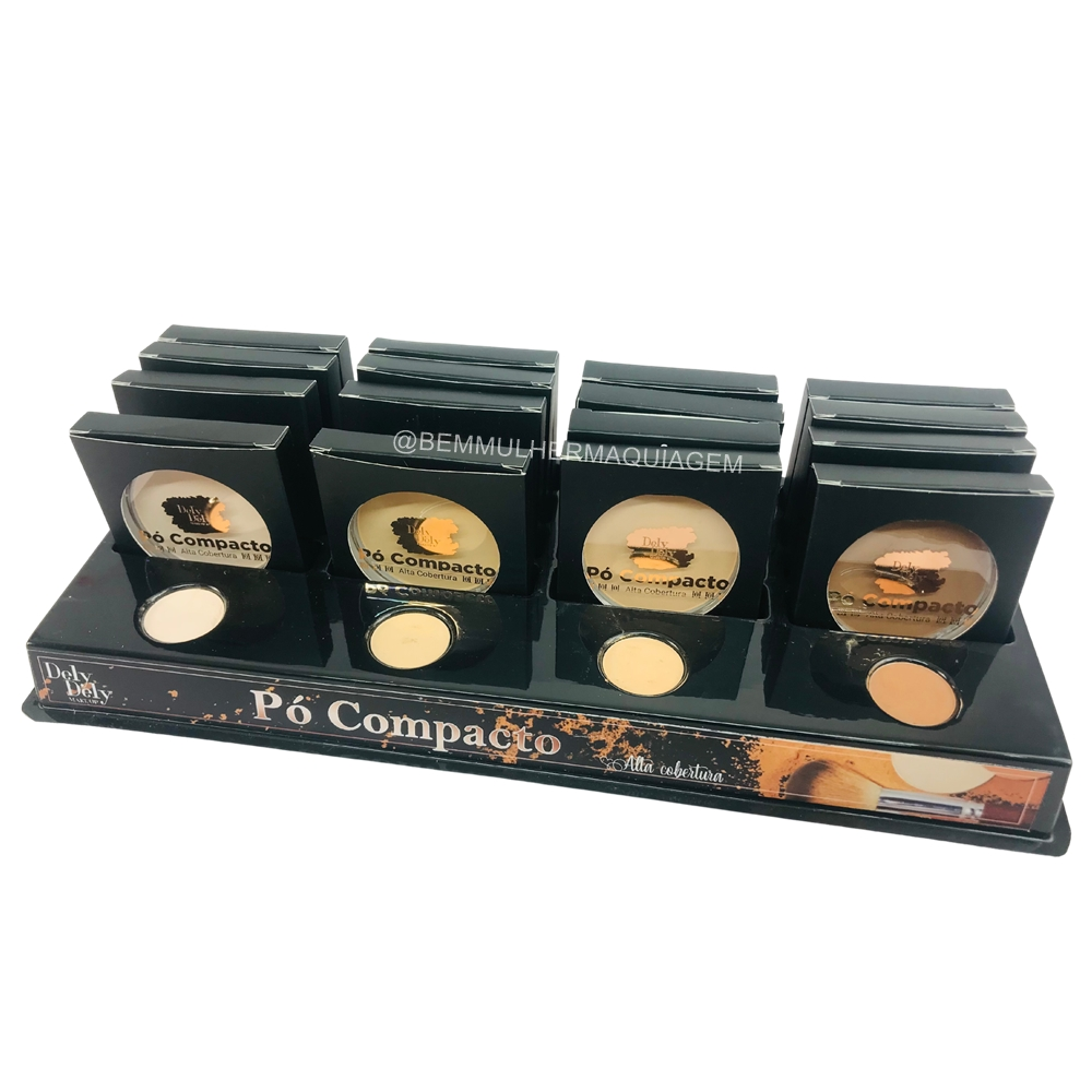 Pó Compacto - Dely Dely - Box com 16Un. (DD005)