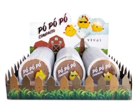Po Compacto Po Po Po Cor 01 ao 03 (1009.4.1) - Vivai - Box com 24Un.