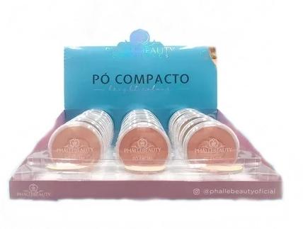 Pó Compacto Tons Claros - Phallebeauty - Box com 18Un. (PH0308)