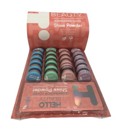 Pó Iluminador Solto Shine Power - Hello Beauty - Box com 24Un.