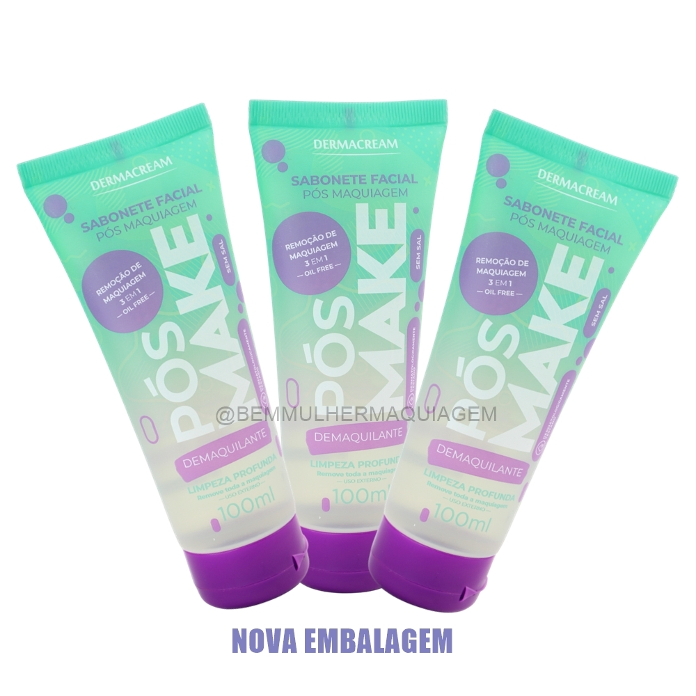 Sabonete Facial Pós Make - Dermacream (QM3)