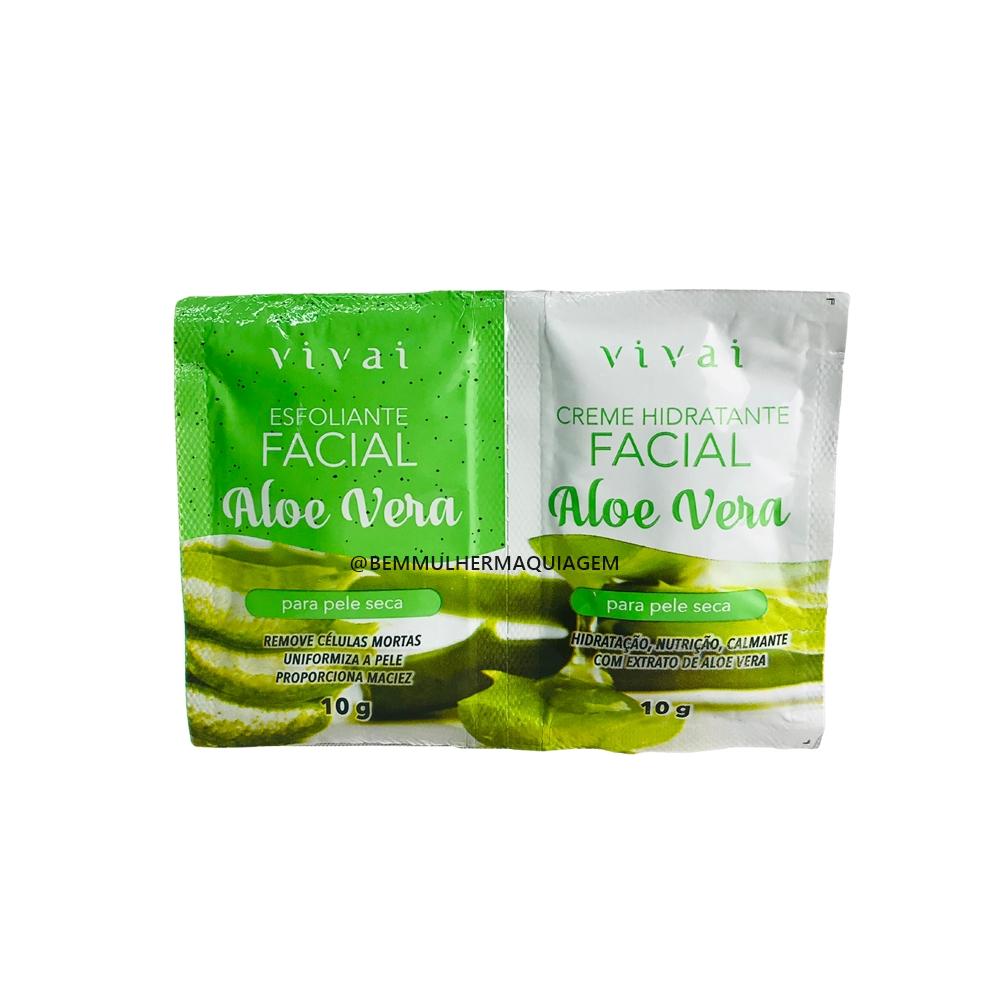 Sachê Duplo Creme Hidratante Facial Aloe Vera - Vivai (5055.5.1)
