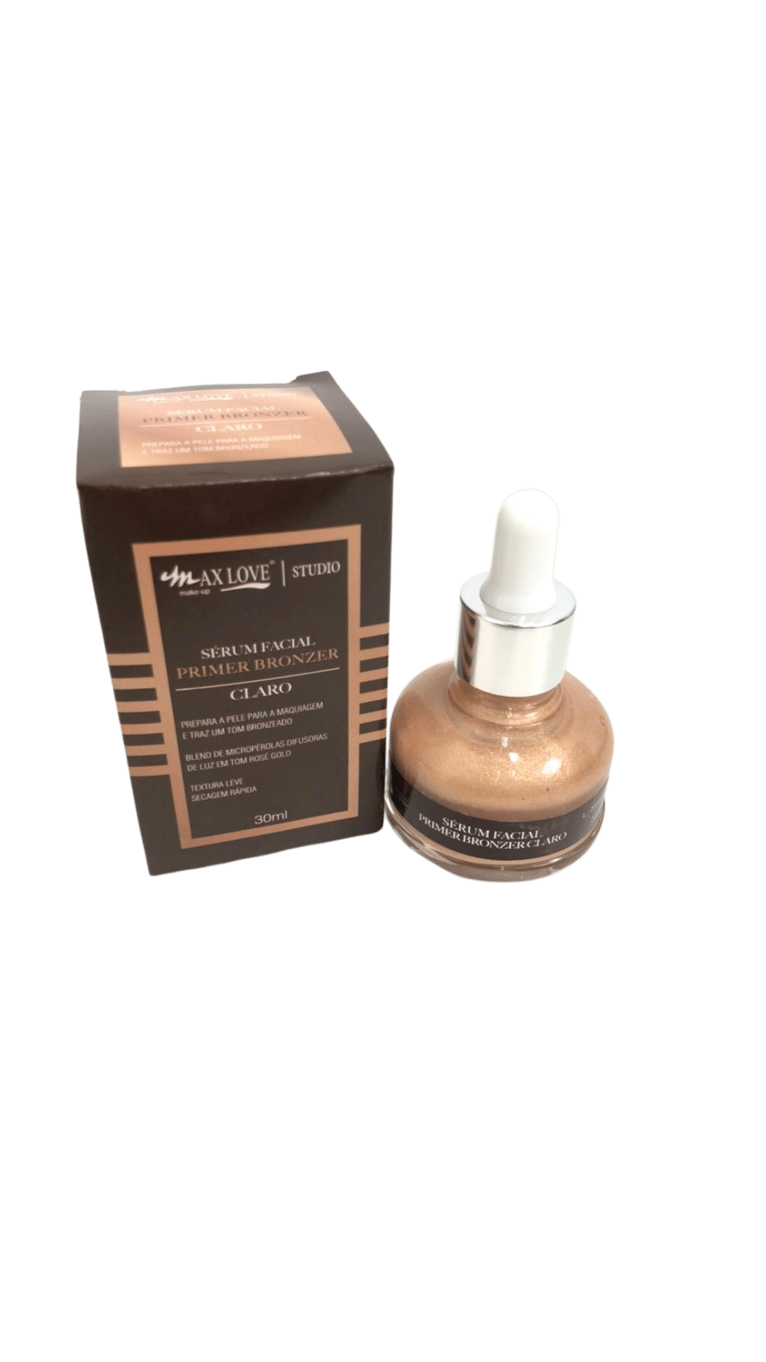 Sérum Facial Primer  Bronzer Claro - Max Love