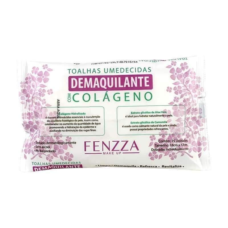 Toalhas Umedecidas Demaquilante Com Colágeno - Fenzza  (FZ51007)