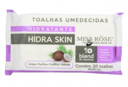 Toalhas Umedecidas Hidratante Hidra Skin - Miss Rôse  (8001-036H)