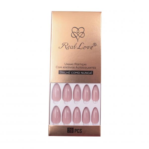 Unha Postiças Autocolante Cor Nude - Real Love  (LYUN54)