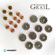 Tainted Grail: A Queda de Avalon - Discos e Marcadores de Metal (Pré-venda)