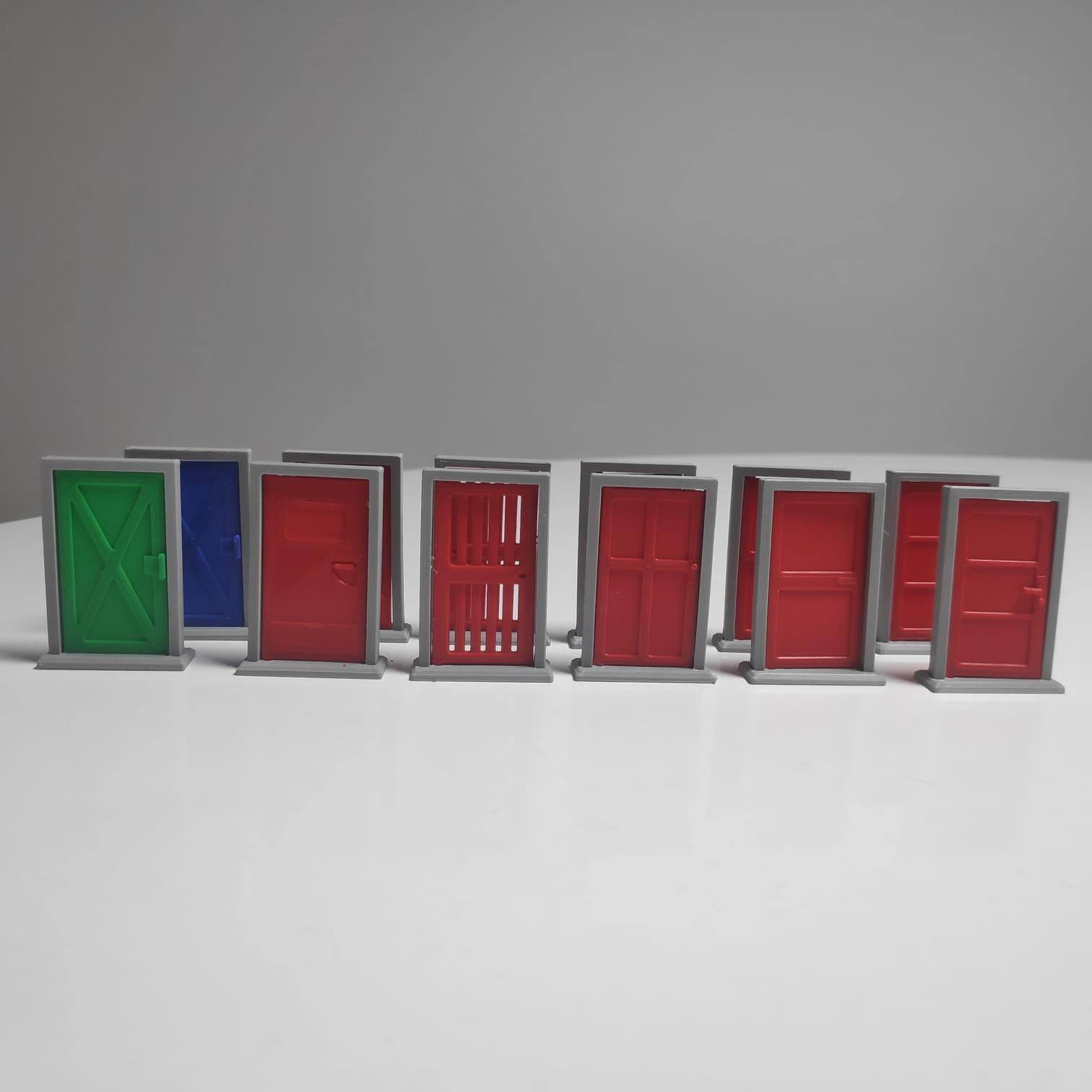 3D Portas Zombicide (Kit com 12 ou 17 itens)