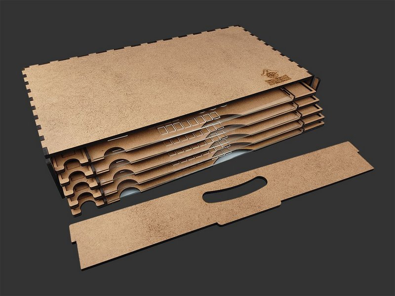 Kit Dashboards para Terra Mystica (5 unidades) Modelo 2 - COM CASE