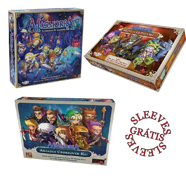 Masmorra: Dungeons of Arcadia + Arcadia Quest Crossover Kit + Monster set + sleeve