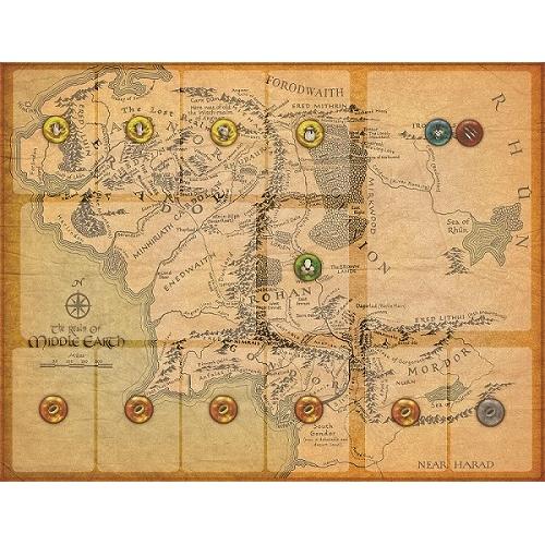 Playmat O Senhor dos Anéis: Jornadas na Terra Média Individual (Kit com 5)