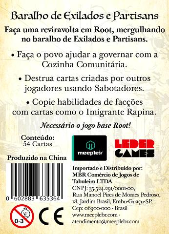 Root: Baralho de Exilados e Partisans