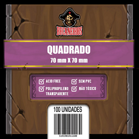 Sleeve Quadradro (70x70) Bucaneiros