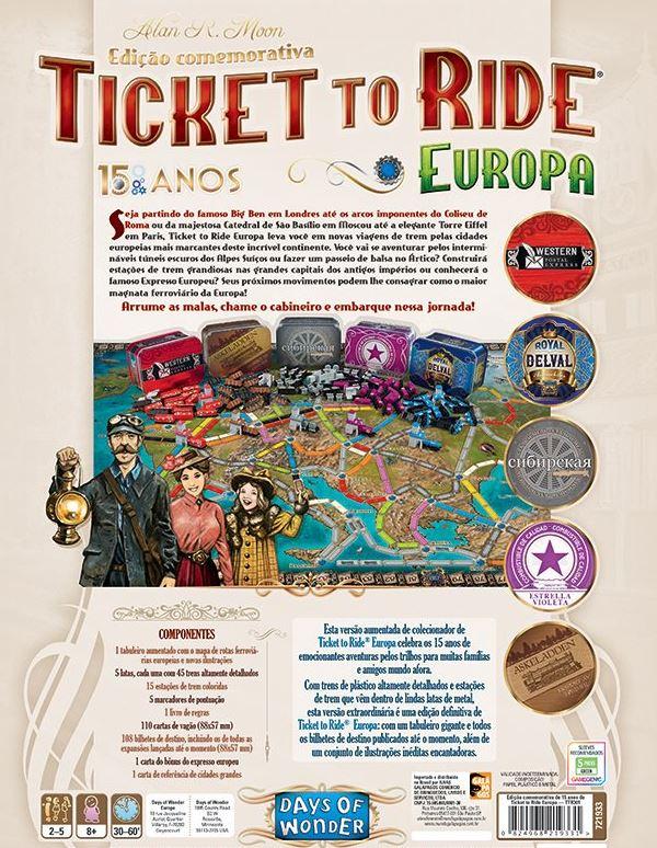 Ticket To Ride: Europa - Edição de 15 anos