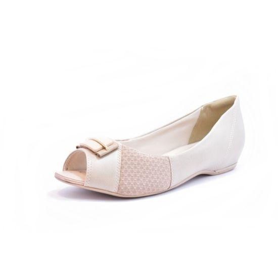 Sapato Comfortflex Ramarim Peep Toe Feminino