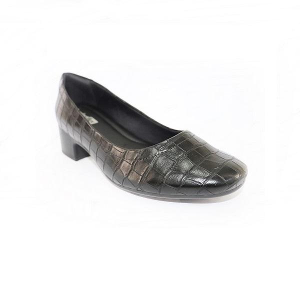 Sapato Croco Salto Médio Comfortflex Ramarim Croco