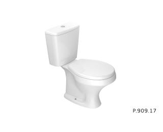 Kit Vaso Sanitário Com Caixa Acoplada Deca Ravena Branco Gelo 3/6 Litros