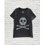 Camiseta Infantil Pixel Skull