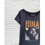 T-Shirt Nina Simone Gola Canoa