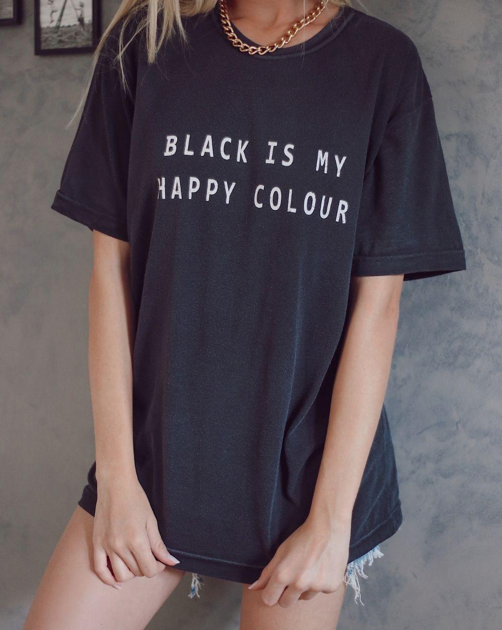 Camiseta Black is my Happy Color