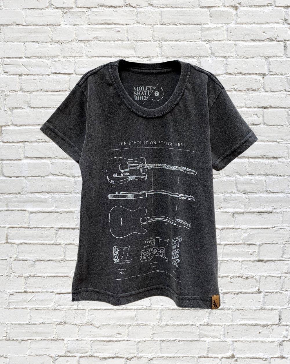 Camiseta Infantil Guitar Revolution