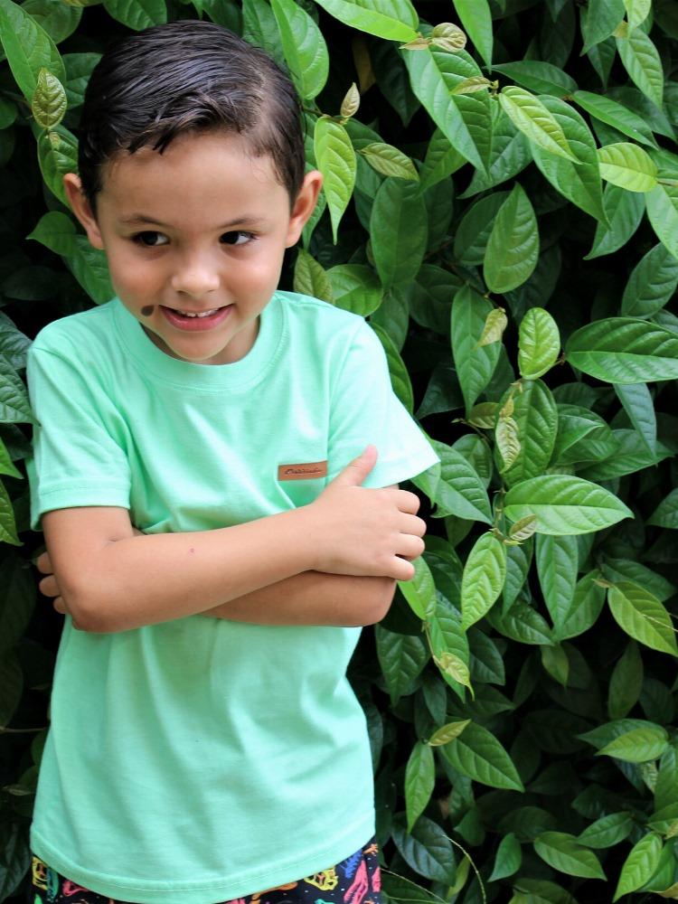 Camiseta Algodão Doce Verde