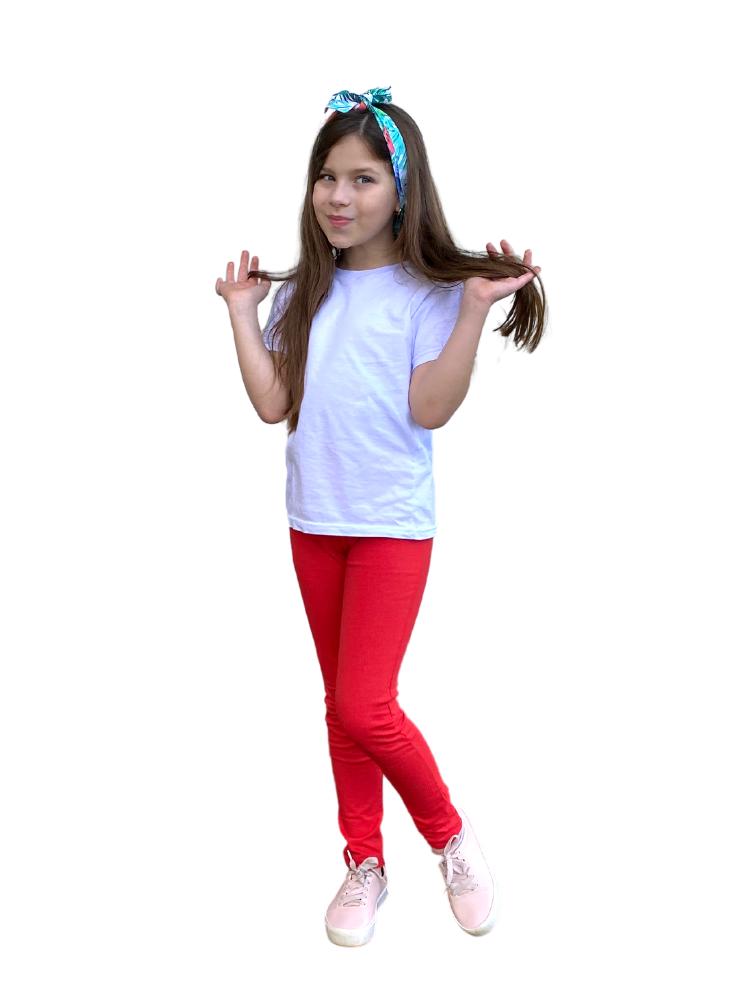 Calça Legging Cotton c/ Brilho Vermelha