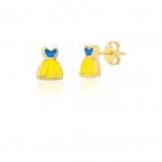 Brinco Folheado Vestido Amarelo - Infantil