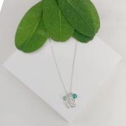 Colar Prata Pingente Flor com Zircônia - Natureza
