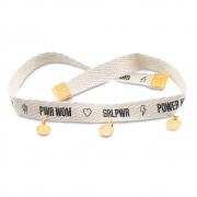 Pulseira Girl PWR Com Pingentes - Power Woman