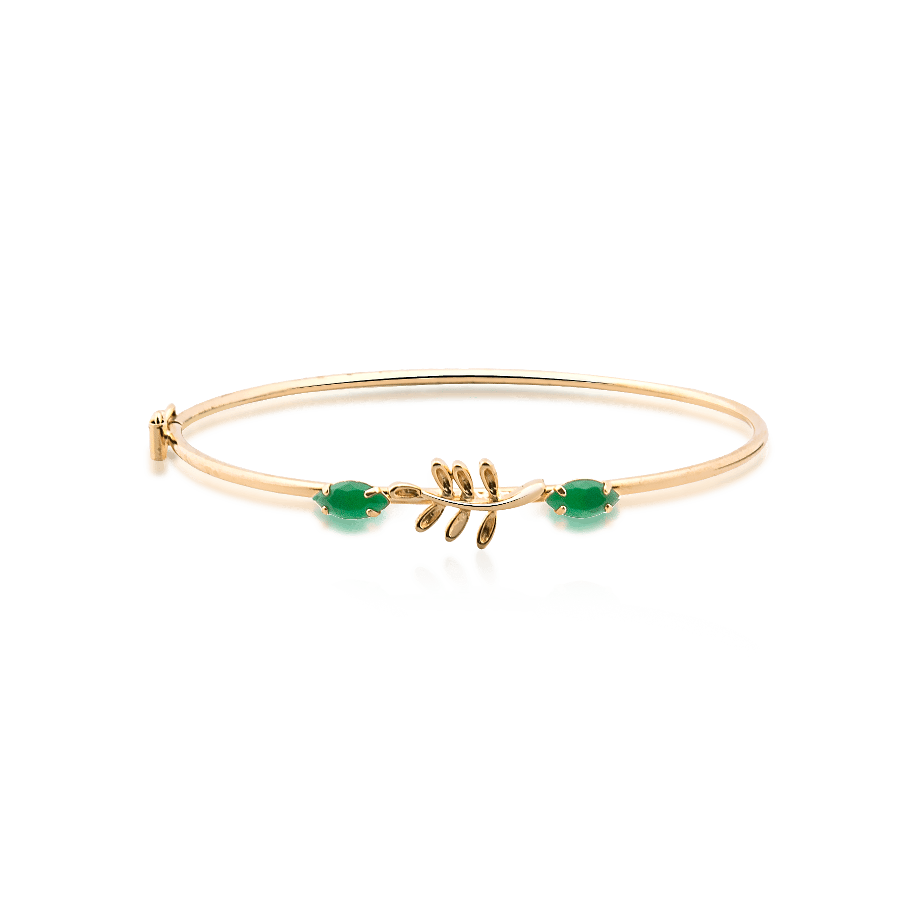 Bracelete Folheado Arruda Com Pedra - Natureza