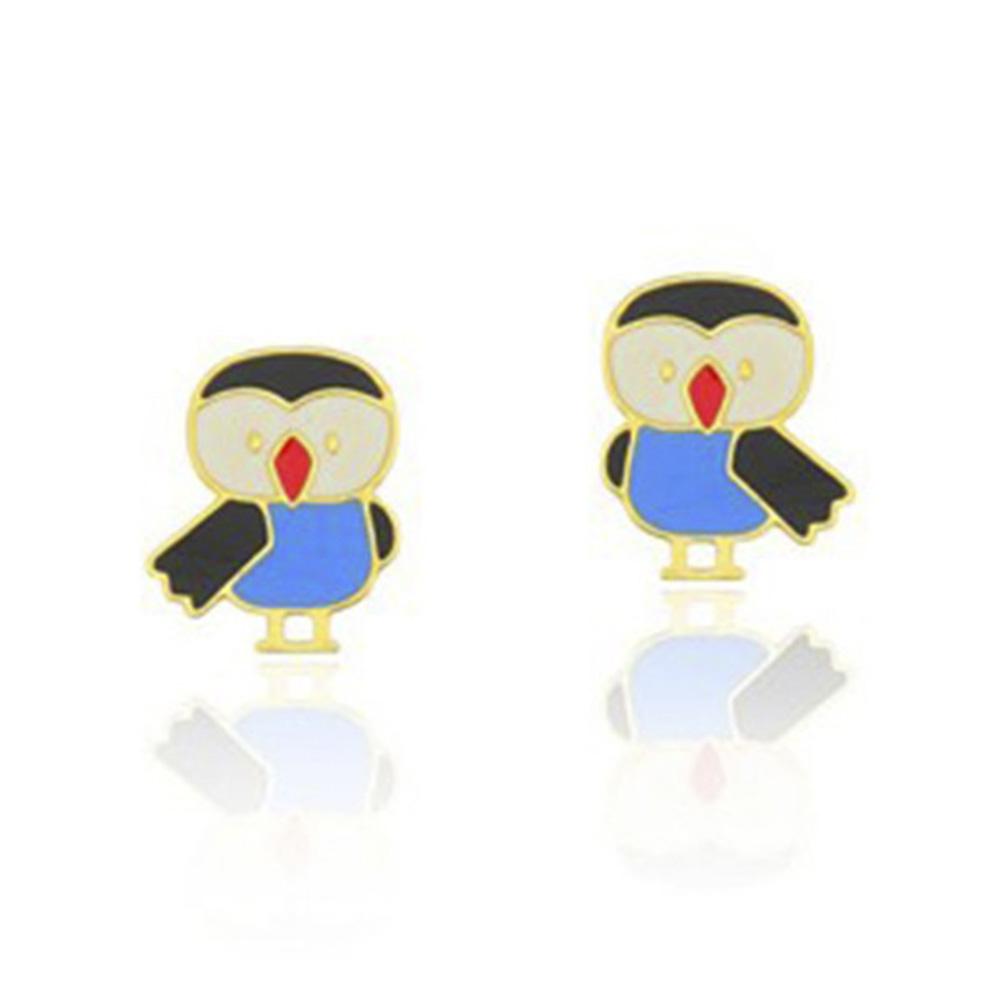 Brinco Folheado Pinguim - Infantil