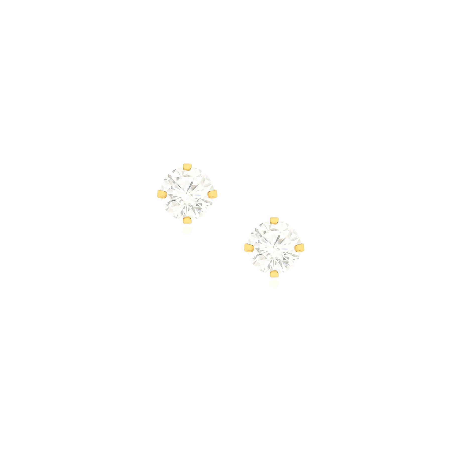 Brinco Folheado Ponto de Luz 3mm