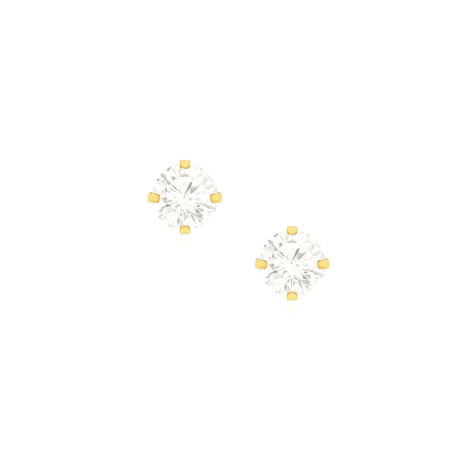 Brinco Folheado Ponto de Luz 5mm
